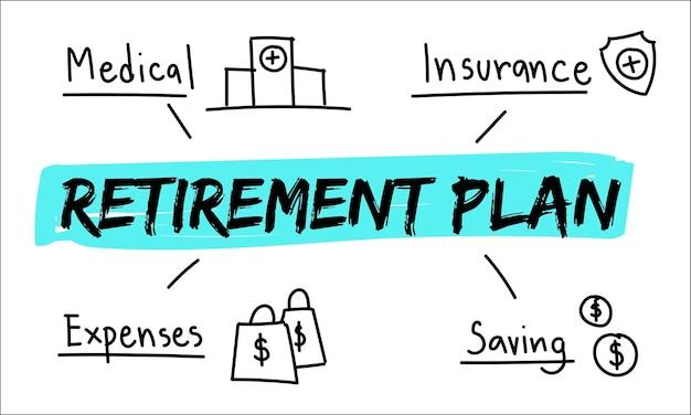 Illustratie van pensioenplan Gratis Vector