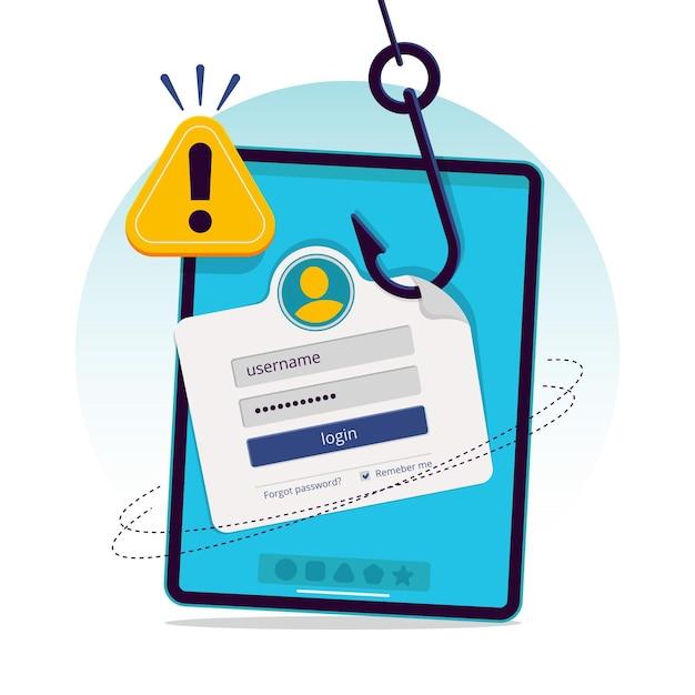 Illustratie van phishing-account concept Gratis Vector