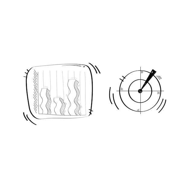 Illustratie van start bedrijfskrabbel Gratis Vector