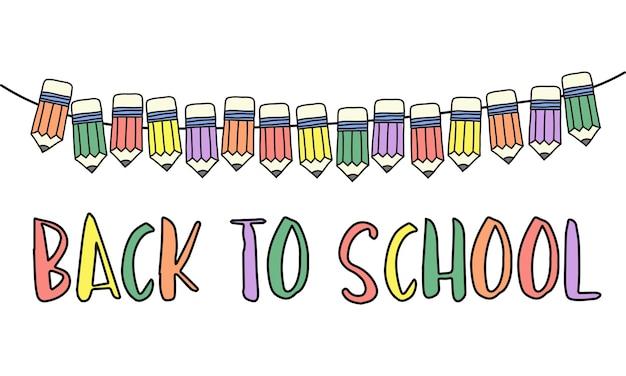 Illustratie van terug naar schoolconcept Gratis Vector