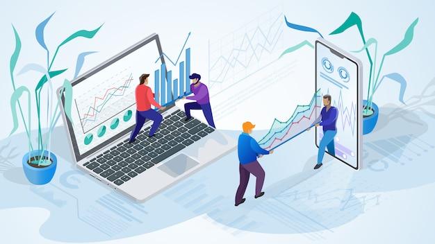 Illustratie van werkende mensen bedrijf Premium Vector