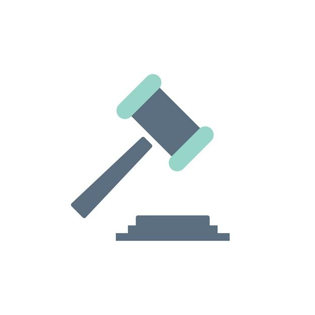 Illustratie van wetsconcept Gratis Vector