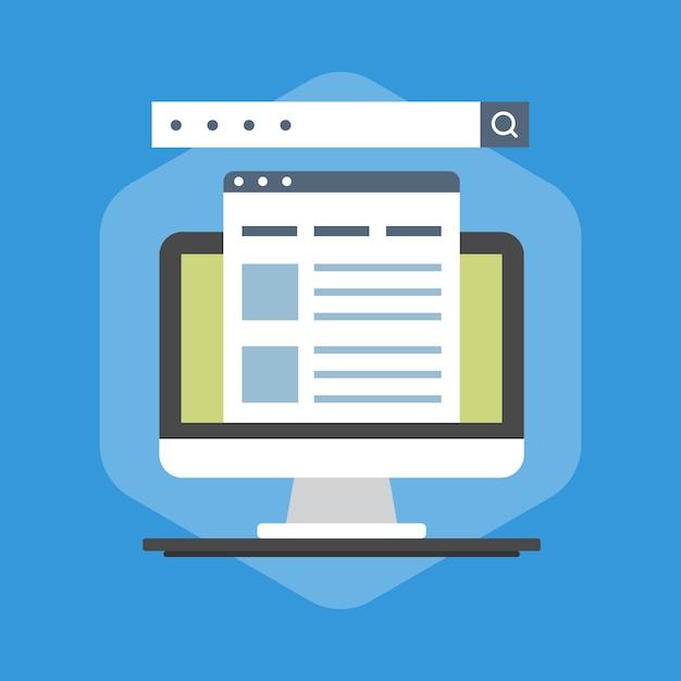 Illustratie van zoekmachineoptimalisatie Premium Vector