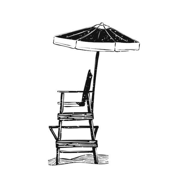 Illustratie van zomer- en strandobject Gratis Vector