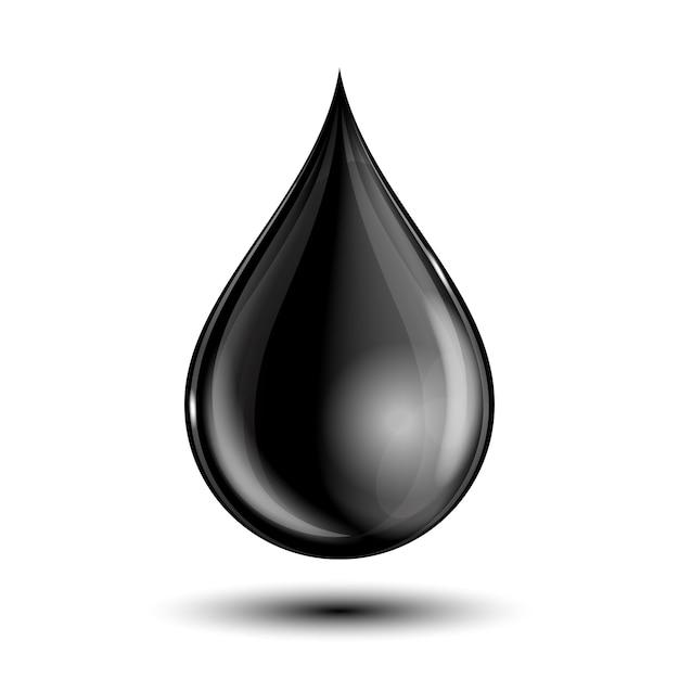 Illustratie van zwarte druppel Premium Vector