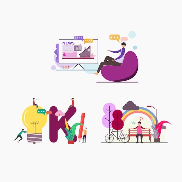 Illustratie voor websites en bestemmingspagina Premium Vector