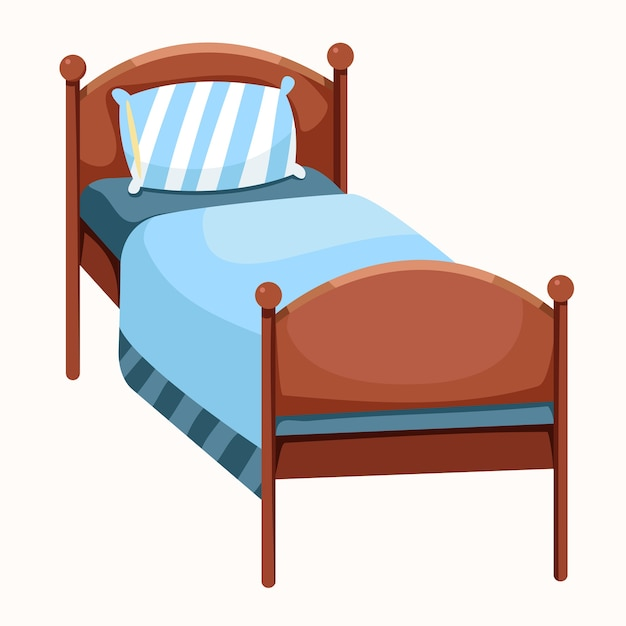Illustrator van bed geïsoleerd Premium Vector