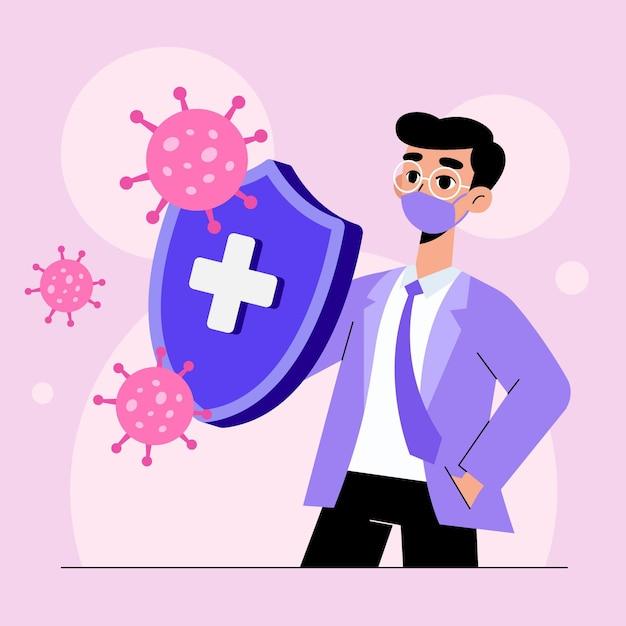 Immuunsysteem concept Gratis Vector