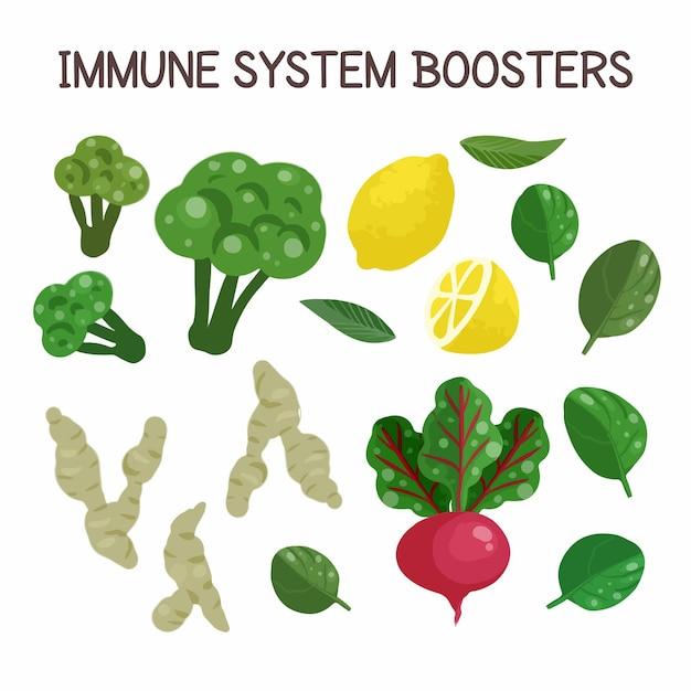 Immuunsysteemversterkers Gratis Vector