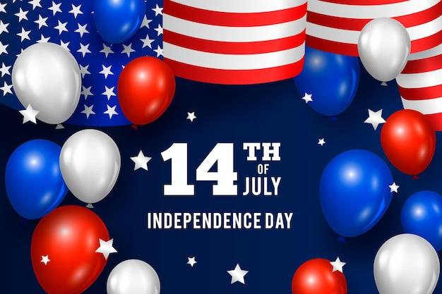 Independence day achtergrond concept Gratis Vector