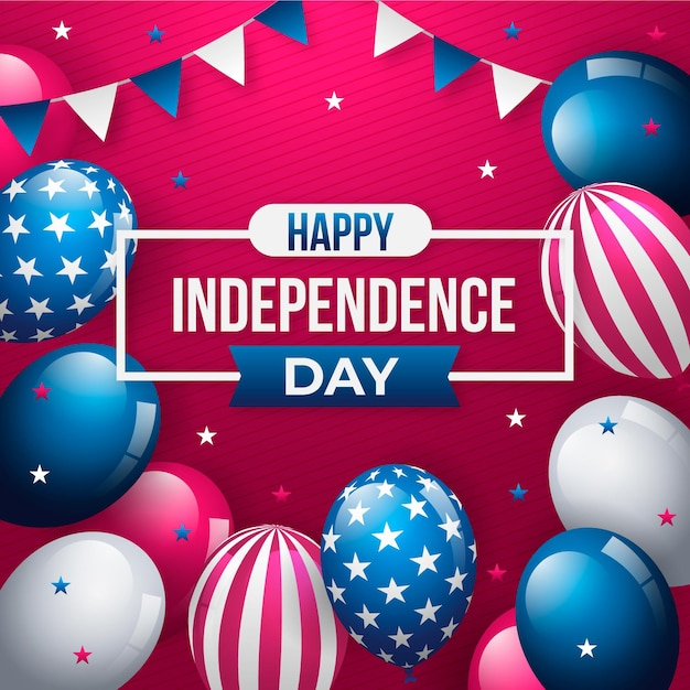 Independence day achtergrond Gratis Vector