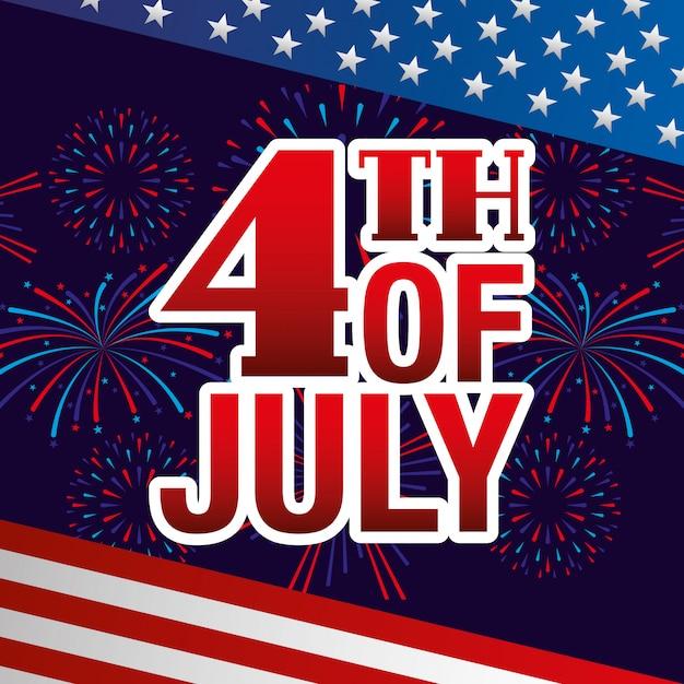 Independence day-kaart Premium Vector