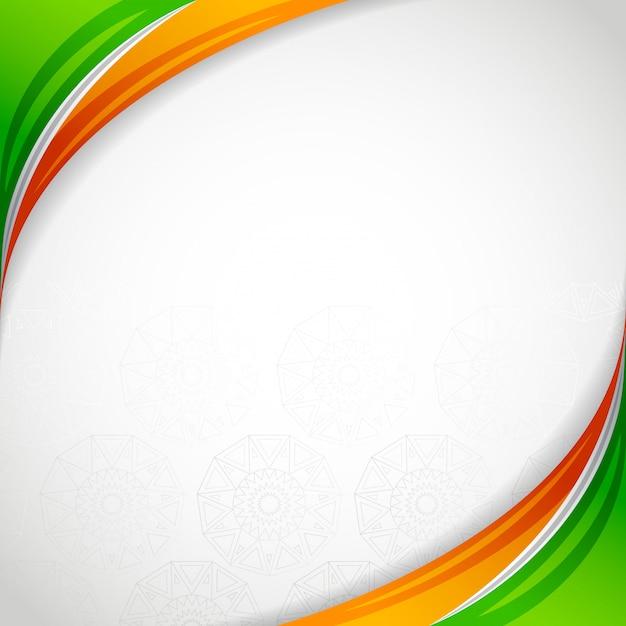 India lege frame kaart onafhankelijkheidsdag Premium Vector