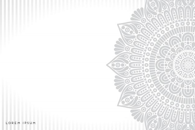Indiase mandala Gratis Vector