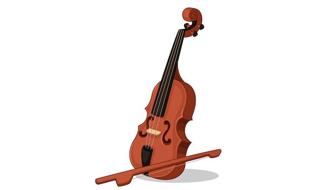 Indiase muziekinstrument viool Premium Vector