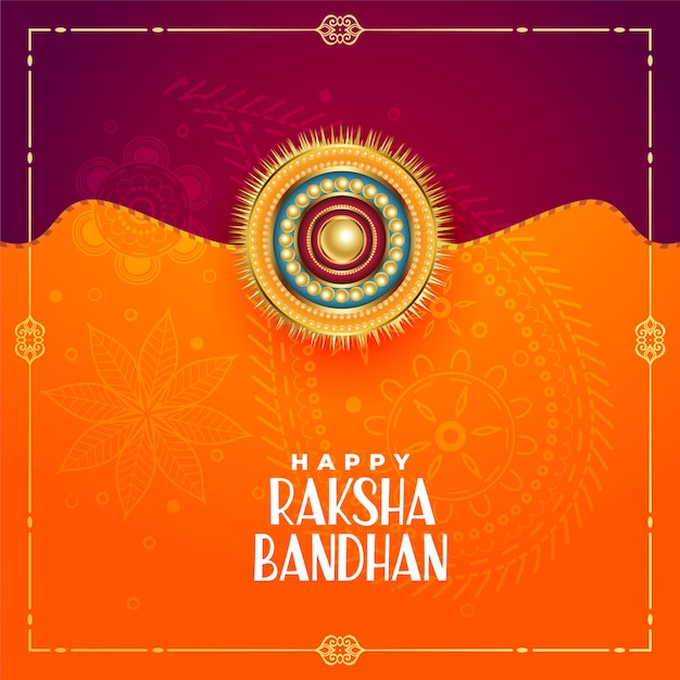 Indiase stijl raksha bandhan festivalgroet Gratis Vector