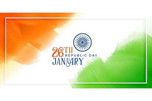 Indiase vlag concept achtergrond voor republiek dag Gratis Vector