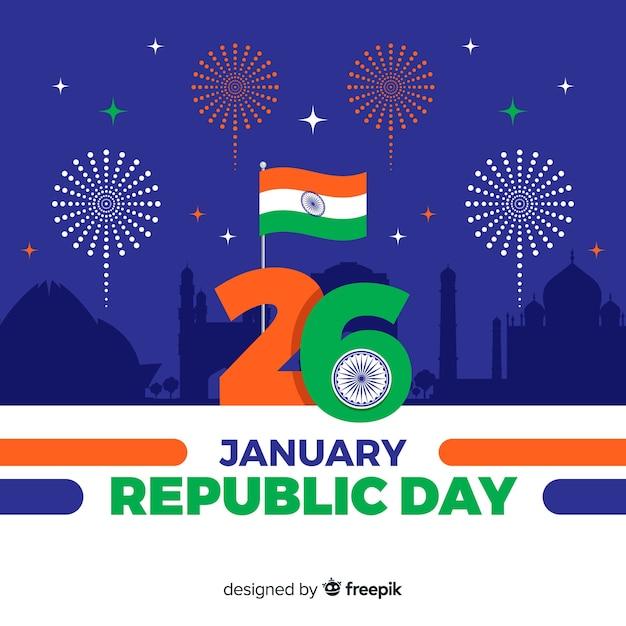 Indische republiekdag Gratis Vector