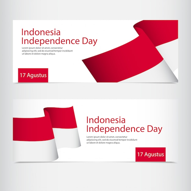Indonesia independence day celebration Premium Vector