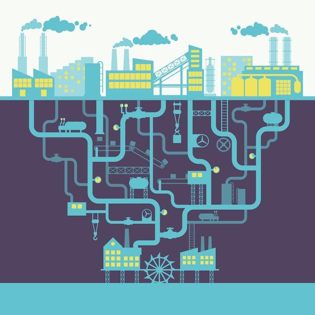 Industrie achtergrond afdrukken Gratis Vector