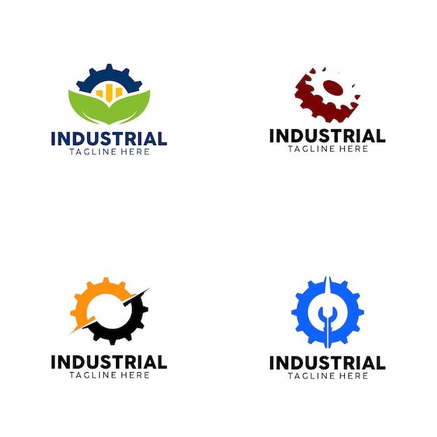 Industrieel logo Premium Vector