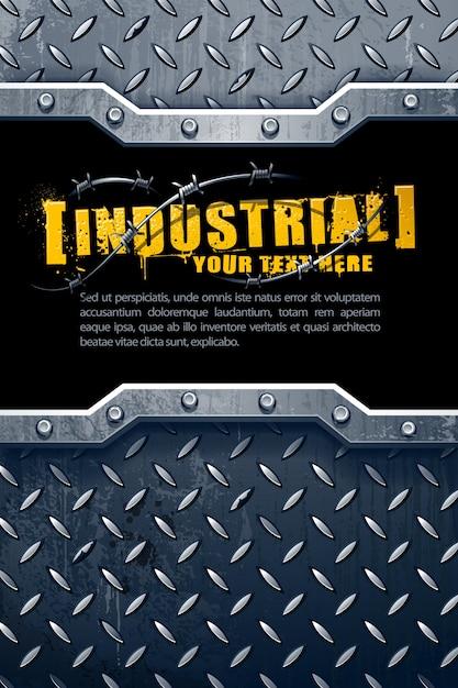 Industriële metalen achtergrond Gratis Vector