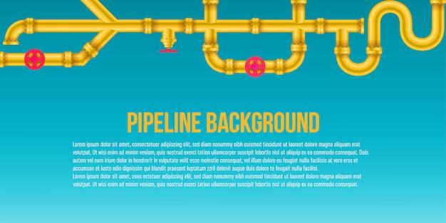 Industriële olie, water, gaspijpsysteemachtergrond. Premium Vector