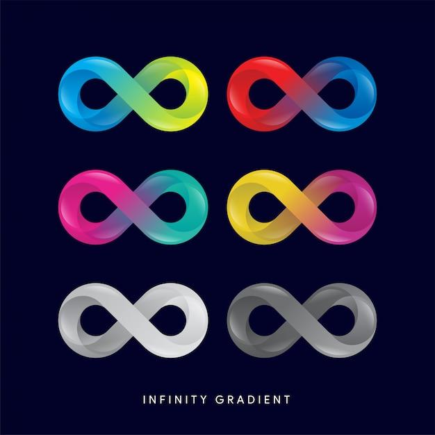 Infinity gradient style Premium Vector