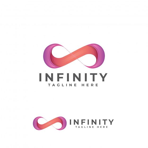 Infinity moderne logo ontwerpsjabloon Premium Vector