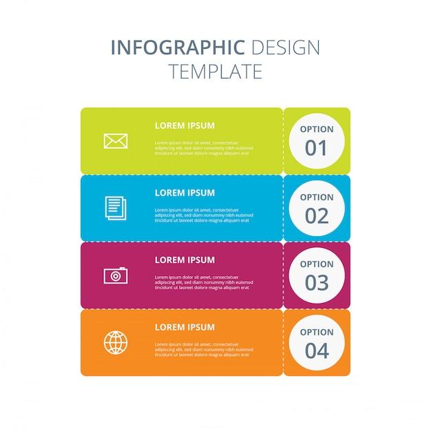 Infografisch ontwerpmalplaatje Premium Vector