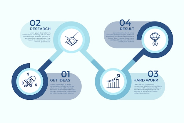 Infographic bedrijfsconcept Gratis Vector