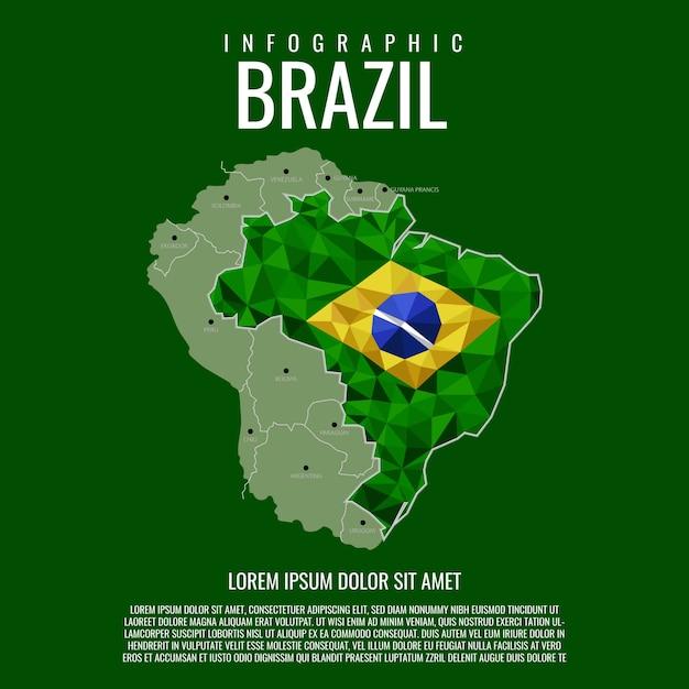 Infographic brazilië Premium Vector