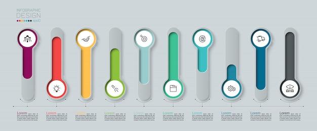Infographic designelementen. Premium Vector