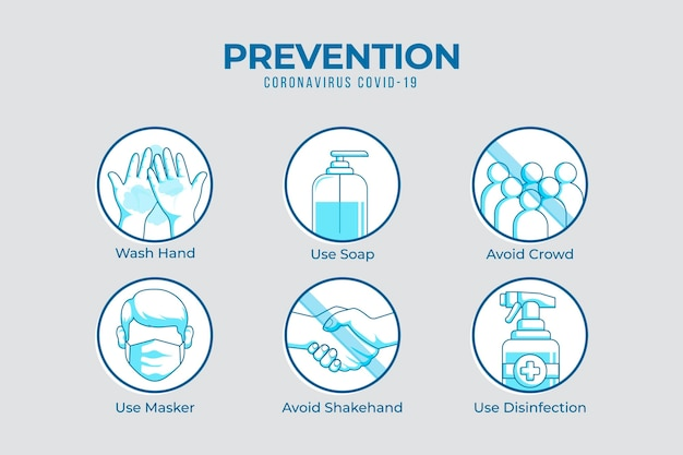 Infographic do's en don'ts-preventie Gratis Vector