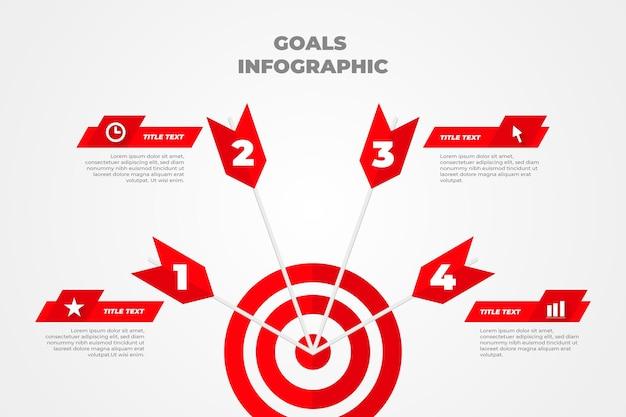 Infographic doelen Gratis Vector