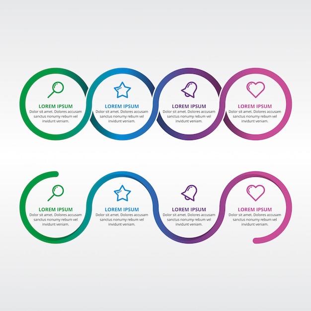 Infographic element cirkel webpresentatie Premium Vector