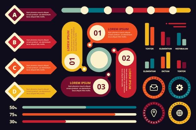 Infographic element collectie concept Gratis Vector