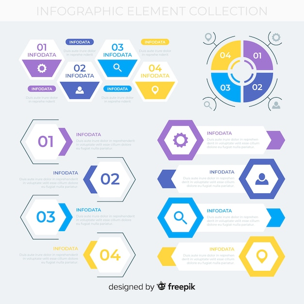 Infographic element collectio Gratis Vector