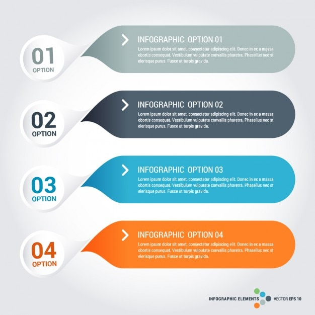 Infographic element templates-collectie Gratis Vector