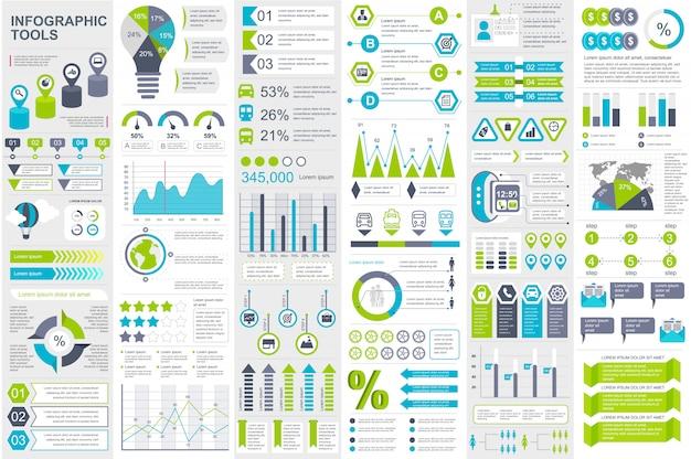 Infographic elementen data visualisatie vector ontwerpsjabloon Premium Vector