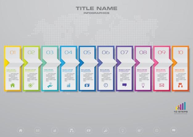 Infographic elementen grafiek. Premium Vector