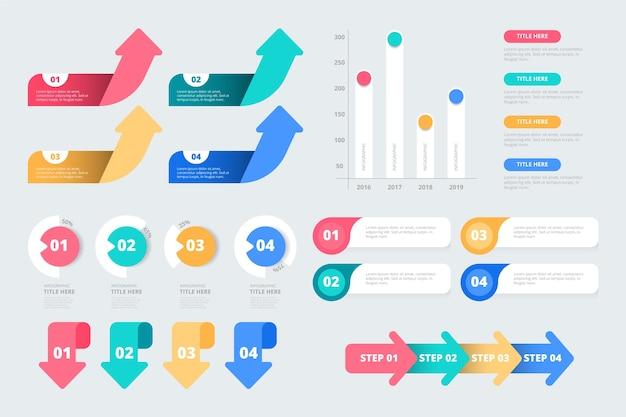 Infographic elementen plat ontwerp Gratis Vector