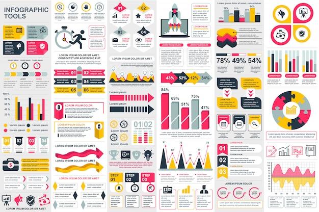 Infographic elementen vector ontwerpsjabloon Premium Vector