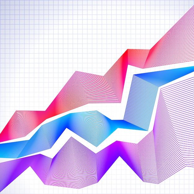 Infographic grafiek met gemengde grafieken Premium Vector