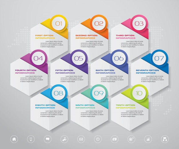 Infographic grafiek ontwerpelement Premium Vector