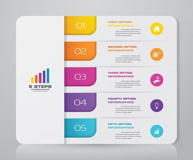 Infographic-grafiek voor gegevenspresentatie. Premium Vector