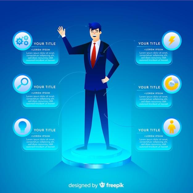 Infographic klantprofiel Gratis Vector