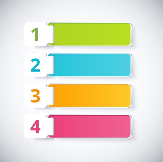 Infographic label met 4 keuzes Premium Vector