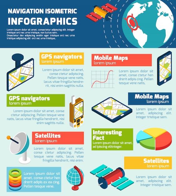 Infographic lay-outgrafiek van de navigatie Gratis Vector