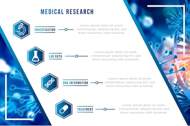 Infographic medisch met afbeelding Gratis Vector